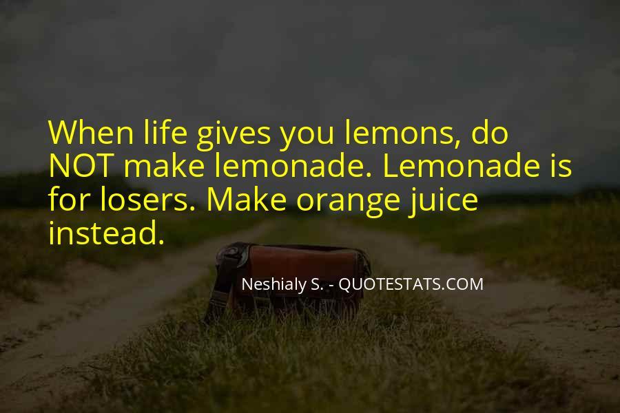 Quotes About Orange Juice #1442856