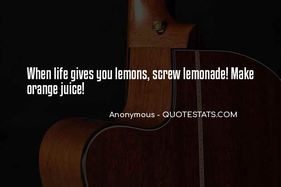 Quotes About Orange Juice #197285