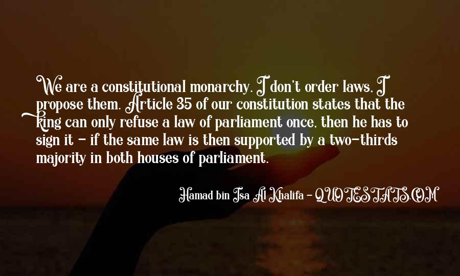 Quotes About Constitutional Monarchy #1327530