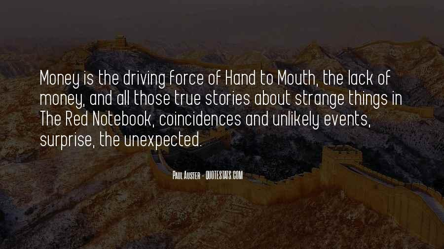 Quotes About Unexpected Events #1373033
