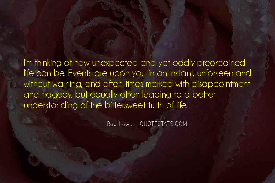 Quotes About Unexpected Events #443646