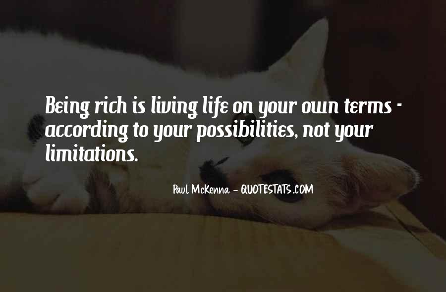 Quotes About Living Life On Your Own #1677413