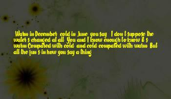 Quotes About Cold December