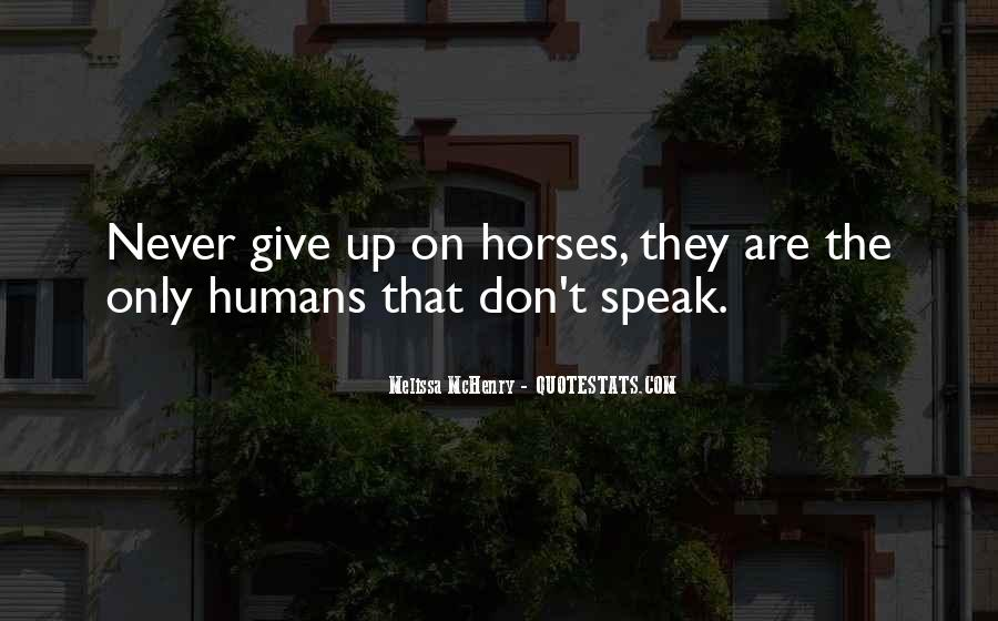 Quotes About Horses And Humans #442214