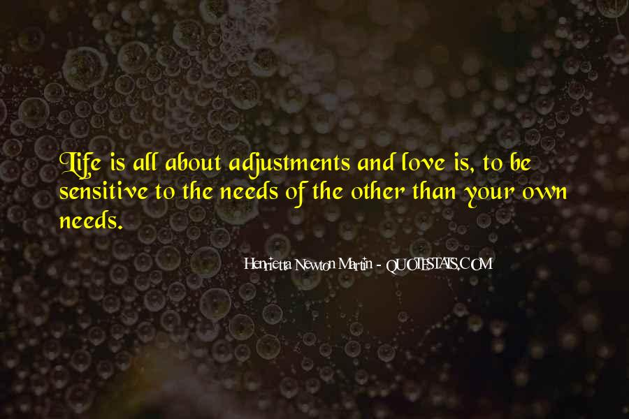 Quotes About Adjustments In Life #1522319