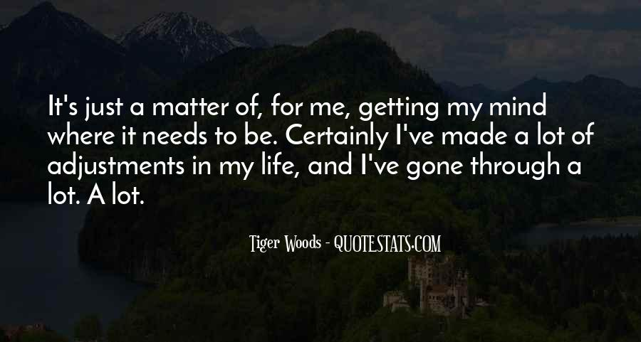 Quotes About Adjustments In Life #395390