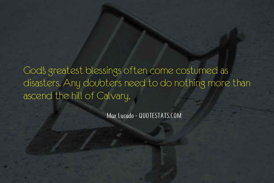 Quotes About More Blessings #1038926