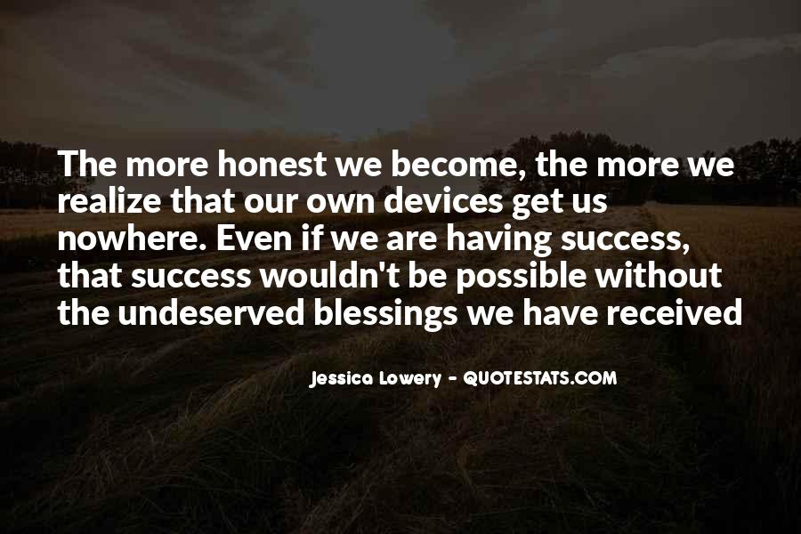 Quotes About More Blessings #1231989