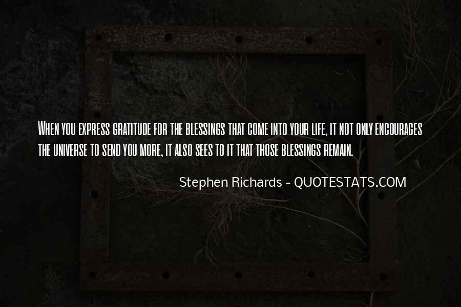 Quotes About More Blessings #1236759