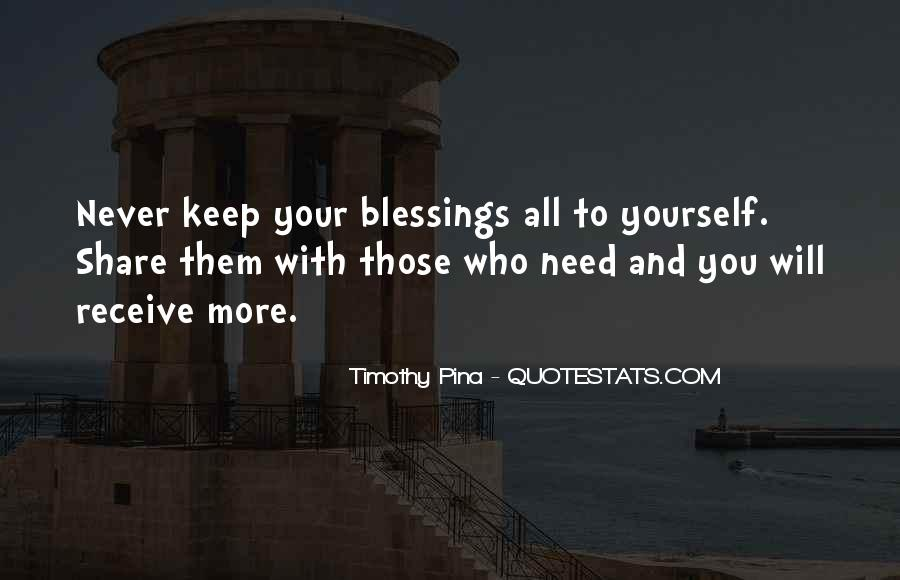 Quotes About More Blessings #52055