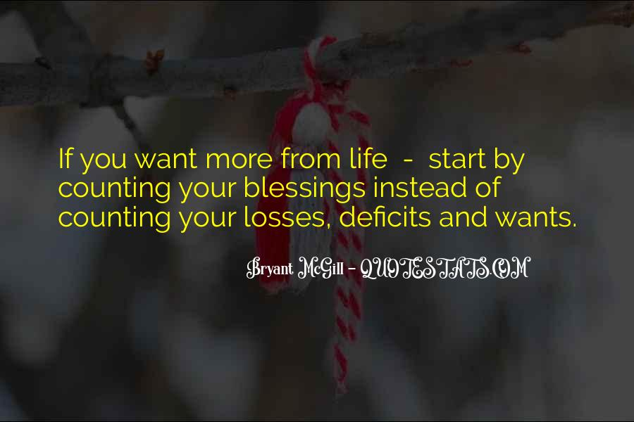 Quotes About More Blessings #675626