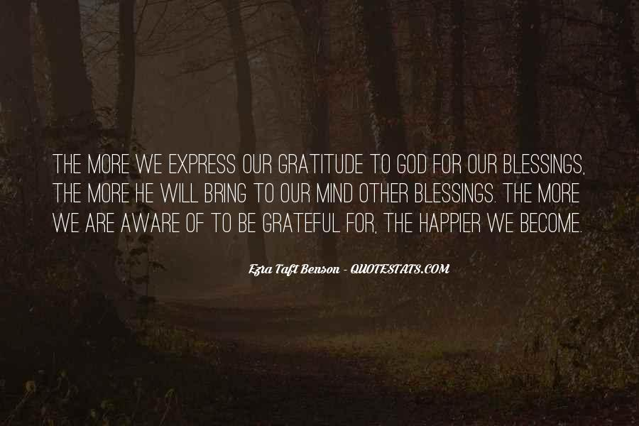 Quotes About More Blessings #823785