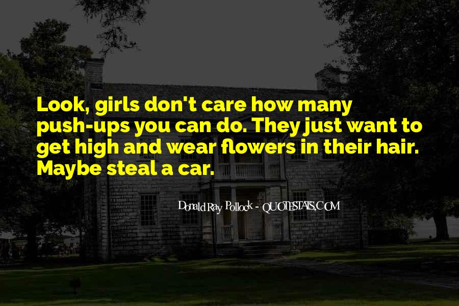 Quotes About Flowers In Her Hair #291134