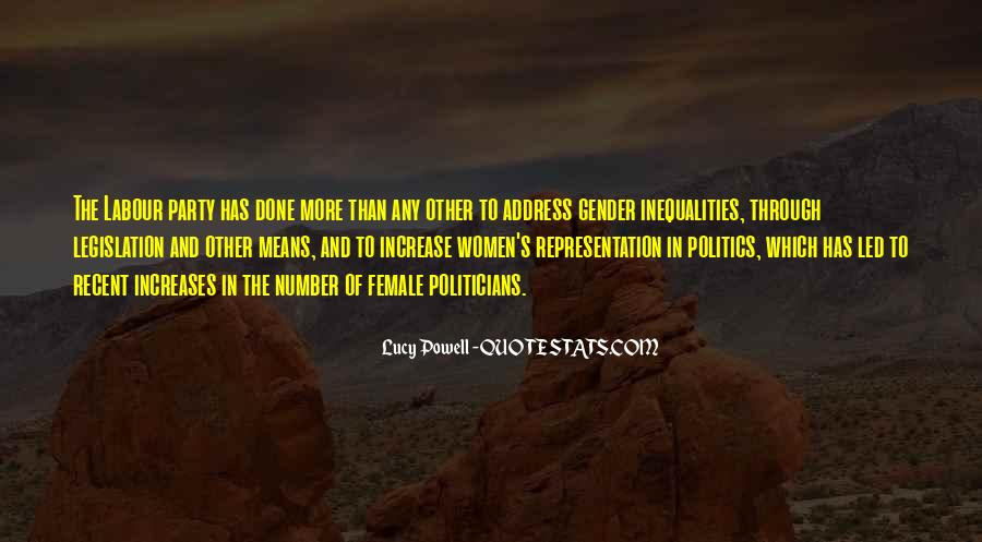 Quotes About Gender Representation #824403