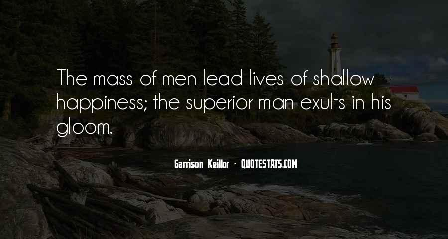 Quotes About Shallow Men #1219776