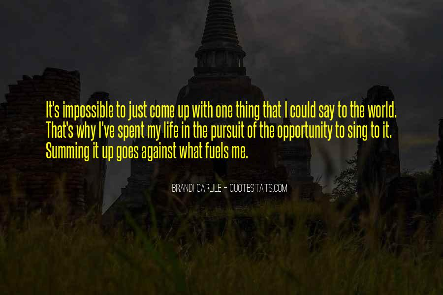 Quotes About Opportunity In Life #132312
