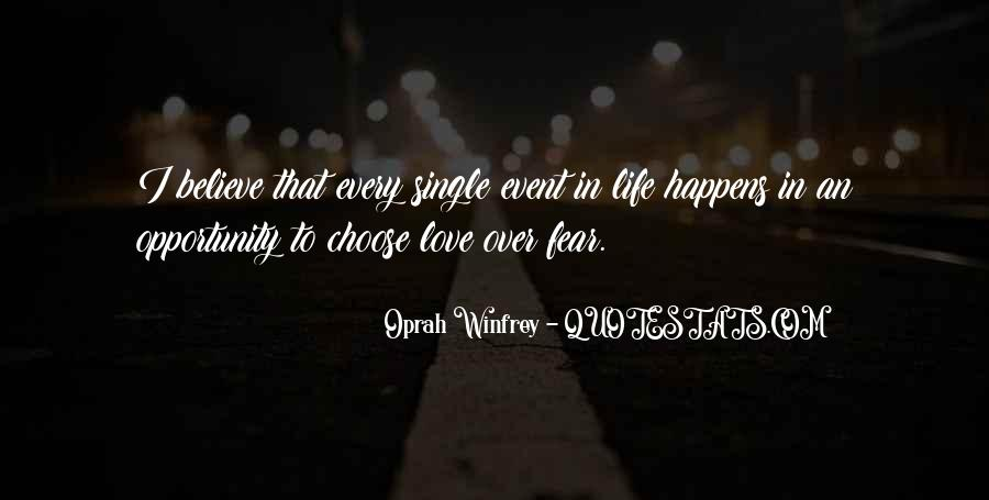 Quotes About Opportunity In Life #174857