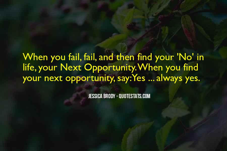 Quotes About Opportunity In Life #259624