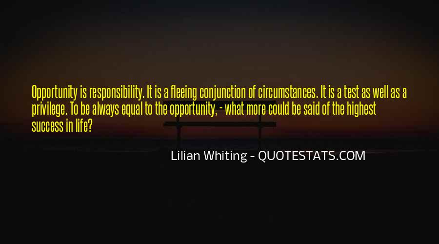 Quotes About Opportunity In Life #369240