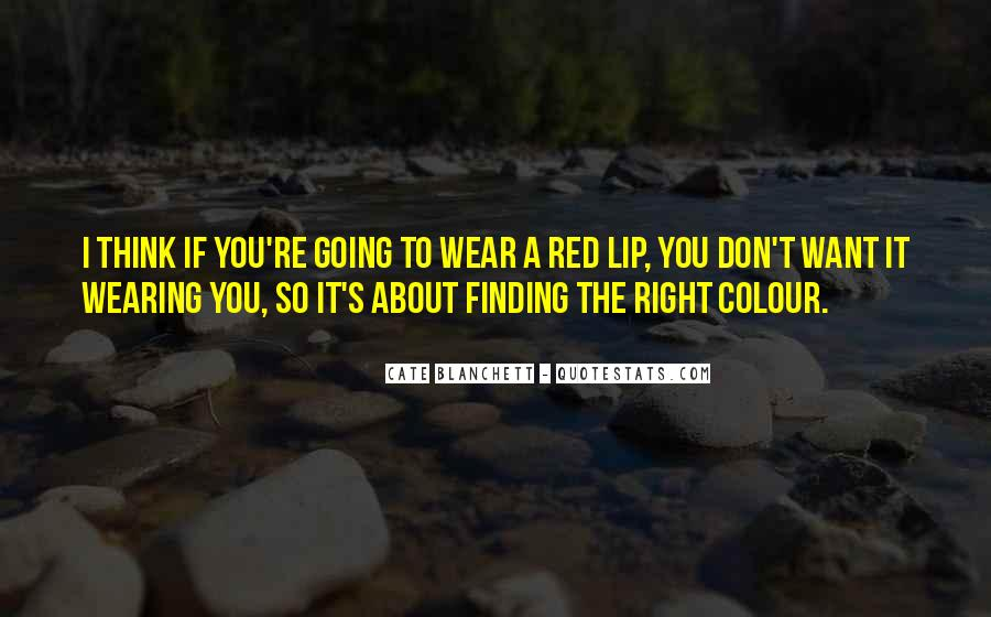 Quotes About Wearing Red #639591