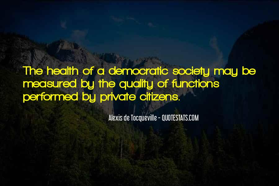 Quotes About Democratic Society #1125254