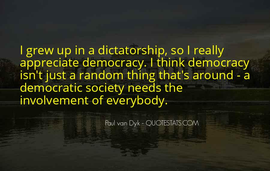 Quotes About Democratic Society #663102