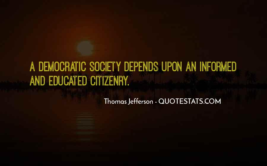 Quotes About Democratic Society #664986