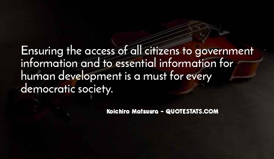 Quotes About Democratic Society #671053
