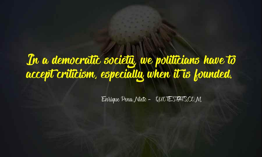 Quotes About Democratic Society #985184