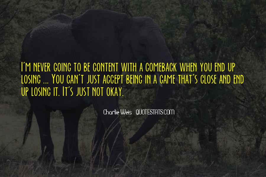Quotes About A Comeback #1246101
