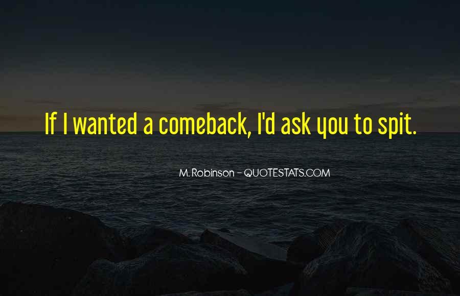 Quotes About A Comeback #1451151