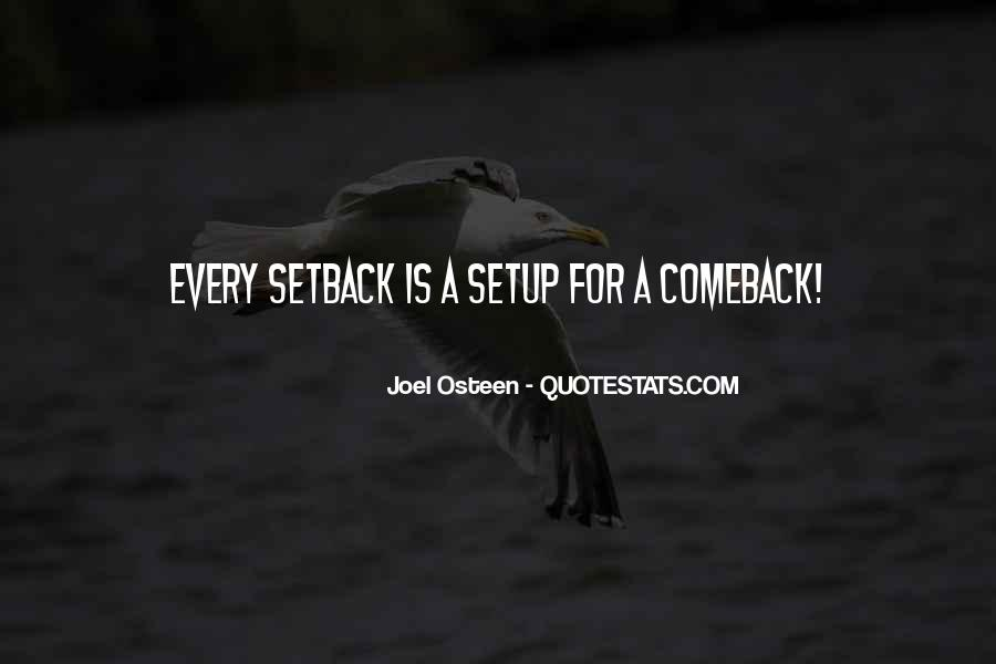 Quotes About A Comeback #205102