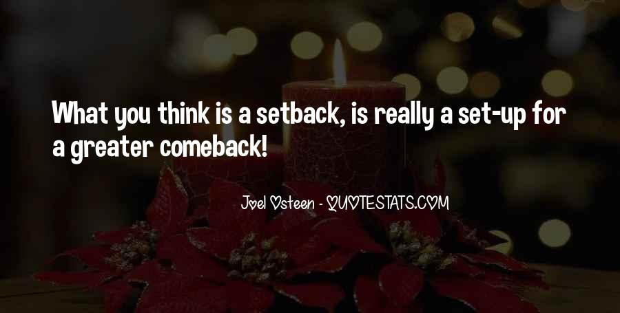 Quotes About A Comeback #247670