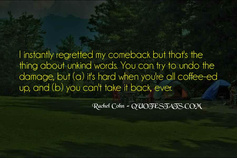 Quotes About A Comeback #490349