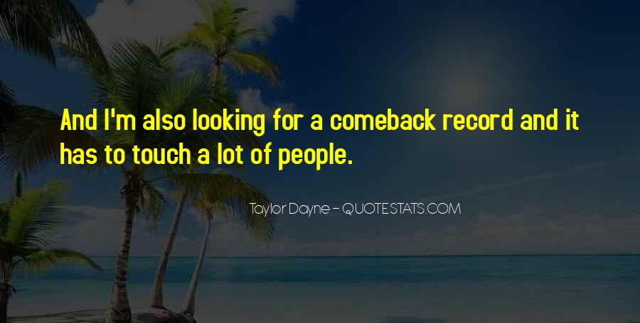 Quotes About A Comeback #529457