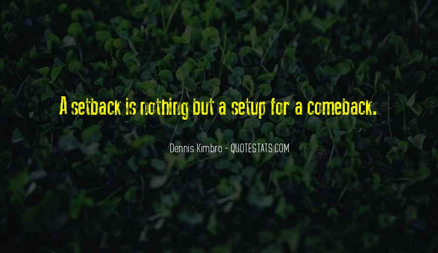 Quotes About A Comeback #623407
