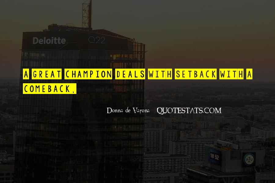 Quotes About A Comeback #662433