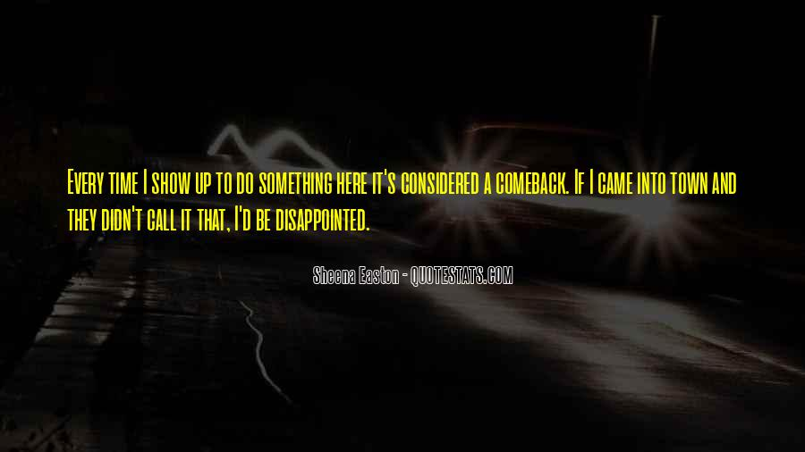 Quotes About A Comeback #745357