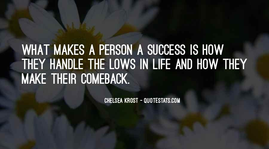 Quotes About A Comeback #832876