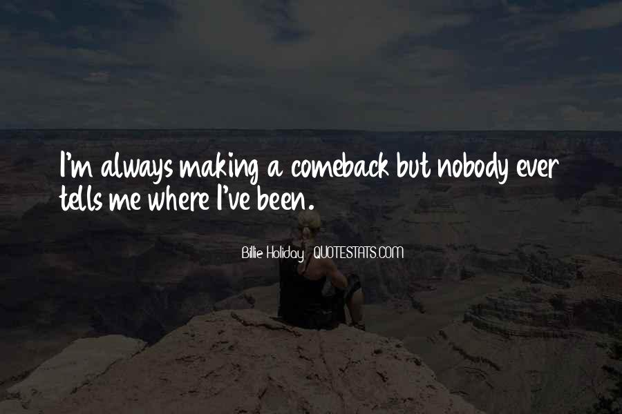 Quotes About A Comeback #897818
