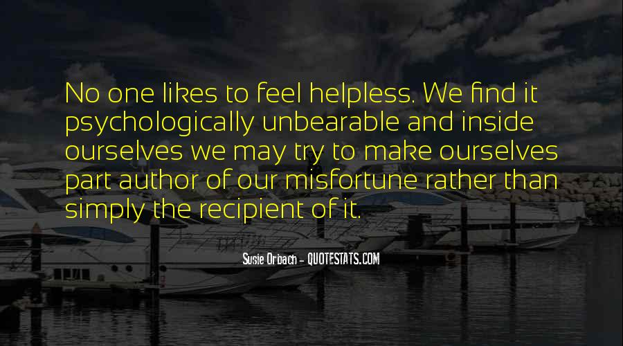 Quotes About The Helpless #34693