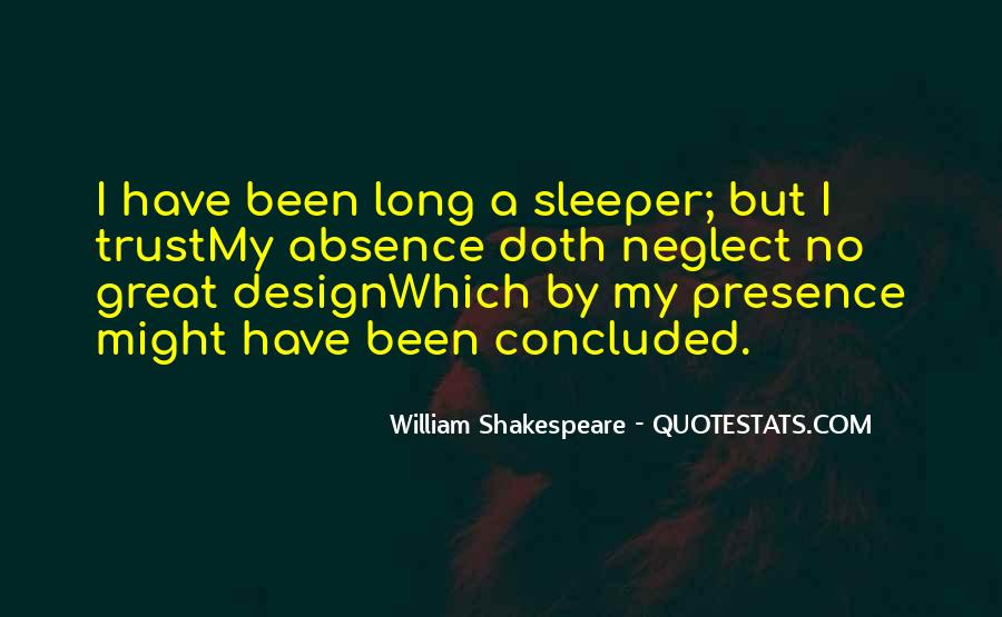 Quotes About Shakespeare Absence #109079