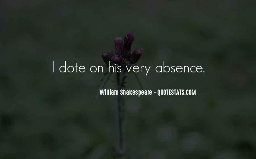 Quotes About Shakespeare Absence #951912