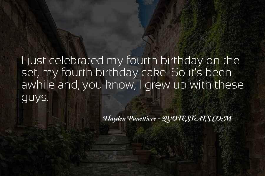 Quotes About Birthday Cake #1040901