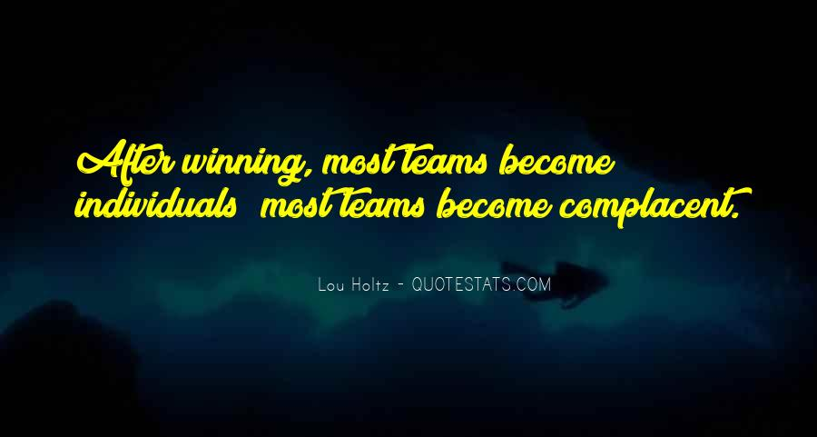 Quotes About Teams Winning #1181977
