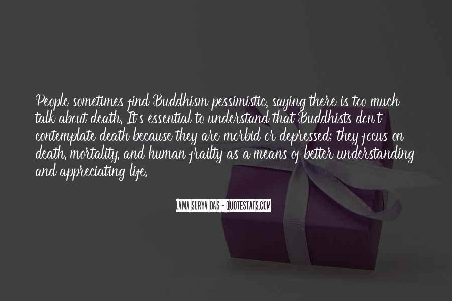 Quotes About Death Buddhism #1842842