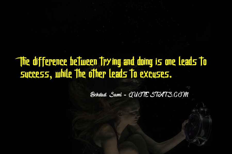 Quotes About Excuses And Success #154845