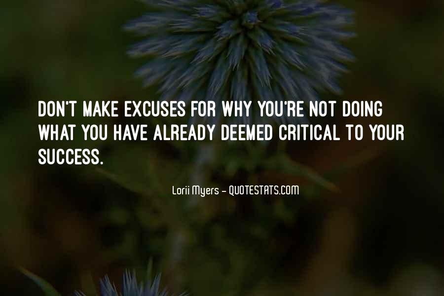 Quotes About Excuses And Success #1757624