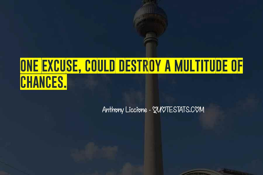 Quotes About Excuses And Success #23145