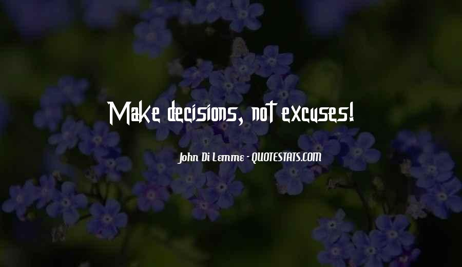 Quotes About Excuses And Success #677256
